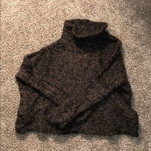 RARE: Brown Free People turtle neck fuzzy sweater